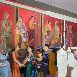 """The Pompeiian Ritual Room"" rare, unusual Jesus art - Kata Billups"