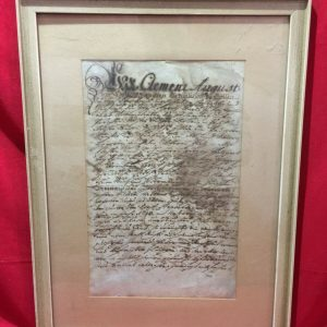 AMAZING RARE ANTIQUE ARCHBISHOP CLEMENS AUGUST MANUSCRIPT DOCUMENT GERMAN