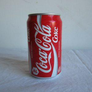 Coca Cola Can 0,5 Oz rare 1992 factory error Sealed and empty coke