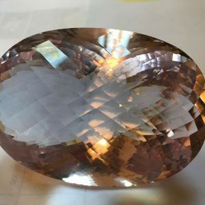 Natural Morganite Gemstone, very large piece, rarely found