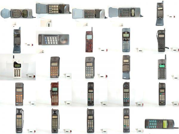 SUPER COLLECTION OF BRICK CELL PHONES VINTAGE RETRO RARE MOTOROLA DYNATAC 8000X
