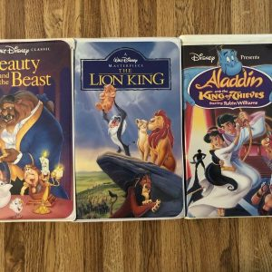 Walt Disney Rare Collection VHS The Lion King Beauty & The Beast Aladdin