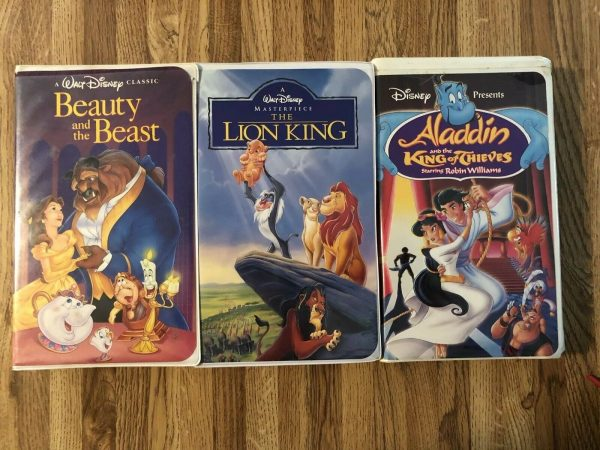 Walt Disney Rare Collection VHS The Lion King Beauty & The Beast Aladdin