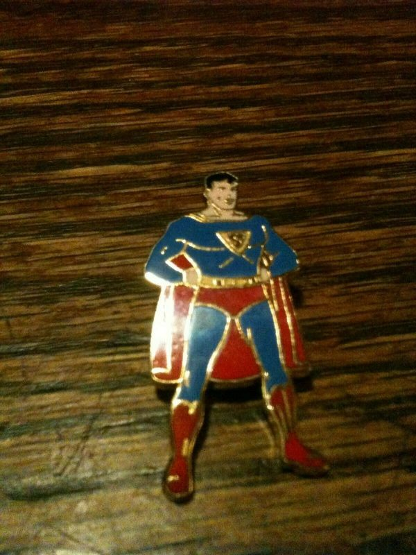 1940 Superman Enamel Pin Pristine Gem Mint Action DC Comics RARE SCARCE Classic