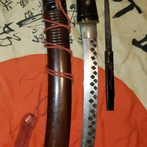 WWII Japanese sword - ULTRA RARE Sakabatō逆刃刀 reverse edge blade MUSEUM PIECE
