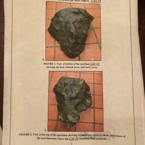 82.50kg Vietnam Can Ty Iron Nickel Meteorite Rare Find After The War 42.50cm