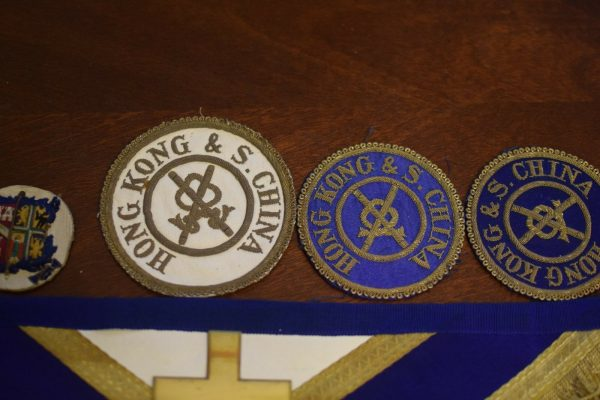 freemason Apron 1840s Hong Kong & South China only one known super rare