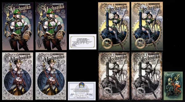 LADY MECHANIKA - HUGE COLLECTION 75 ITEMS - SIGNED/CGC RARE - HAND-DRAWN SKETCH