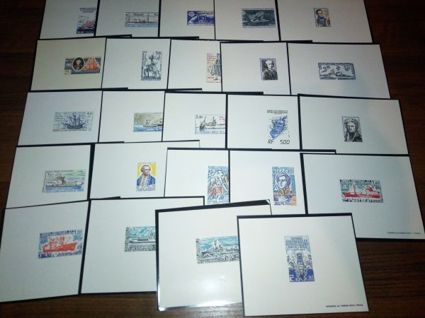 FSAT TAAF SHIPS VOYAGER COLLECTION 72 DE LUXE s/s & 57 IMPERF. ITEMS MNH RARE