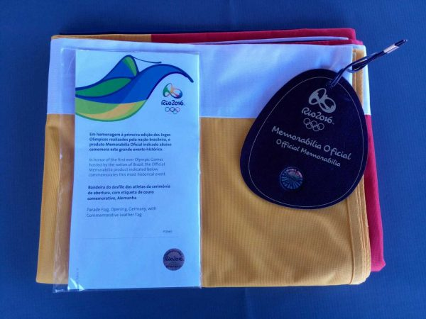 GERMANY FLAG RIO 2016 OLYMPIC GAMES -NOT a RARE - IT's a UNIQUE COLLECTIBLE ITEM