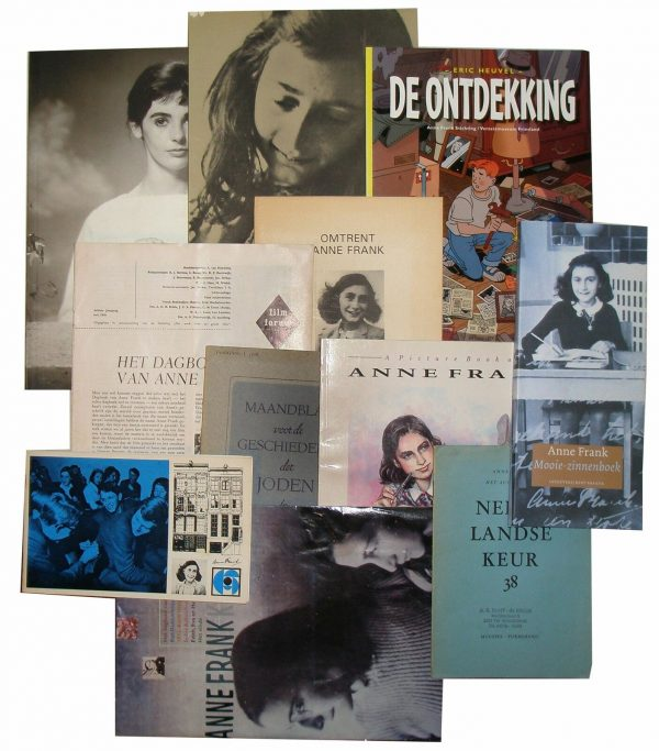 Anne Frank / COLLECTION OF 188 ITEMS INCLUDING RARE UNRESTORED FIRST EDITION
