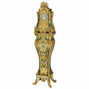 A Rare and Important French Louis XIV Gilt-Bronze Mounted Boulle Marquetry Clock