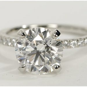 2.29ct Internally Flawless Round Diamond Engagement Ring E-IF GIA certified