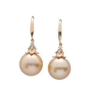 Fine Jewelry 18 K Gold Aurora Philippines Gold Pearl Earrings